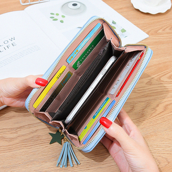 Women's Purse Multi-function Mobile Phone Leather Handbag Large Capacity Ladies Hand Holding Clutch Coin Bag