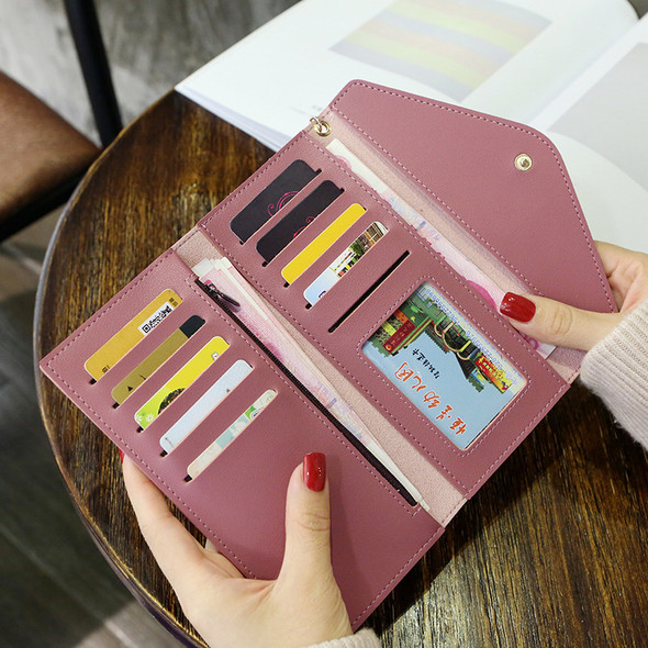 Women's Purse Large Capacity Mobile Phone Handbag Ladies Multi-function Hand Holding Clutch Coin Leather Bag