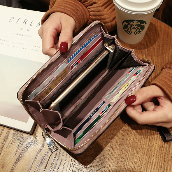 Women's Purse Mobile Phone Holder Leather Handbag Large Capacity Ladies Clutch Coin Women's Wallet