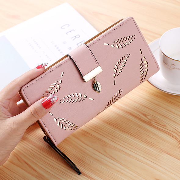 Women's Purse Mobile Phone Holder Leather Handbag Zipper Large Capacity Hand Holding Lady Clutch Bags