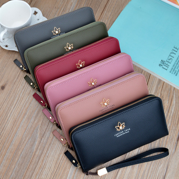 Women's Purse Mobile Phone Holder Leather Handbag Hand Holding Lady Clutch Bags