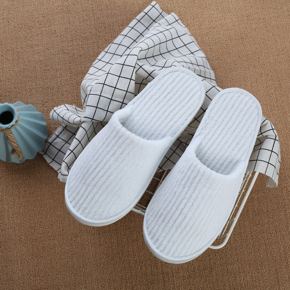Disposable Slippers Coral Fleece Anti-slip Home Guest Thicken Travel Hotel White Soft Comfortable Delicate Disposable Slippers