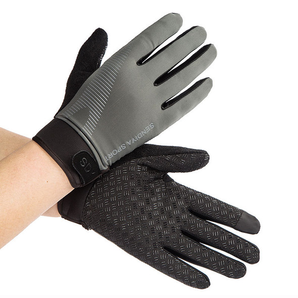 mens gray exercise gloves