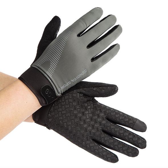 mens gray exercise gloves