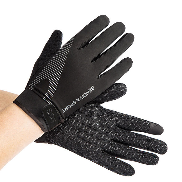 full finger black workout gloves for men