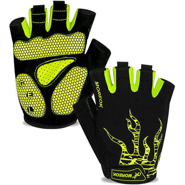mtb green finger bike gloves