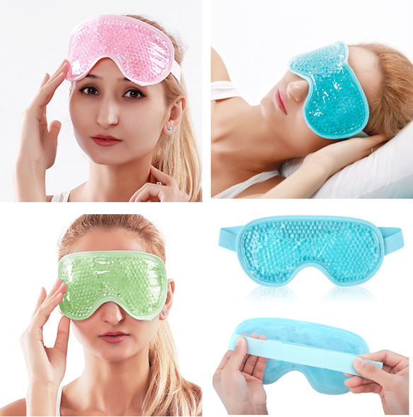 Cooling Gel Eye Mask for Puffiness Reusable Cold Eye Mask with Gel Bead