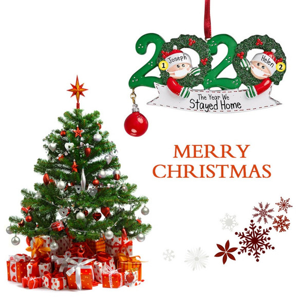 2020 Xmas Christmas Hanging Ornaments Family DIY Name Quarantine Tree Decor