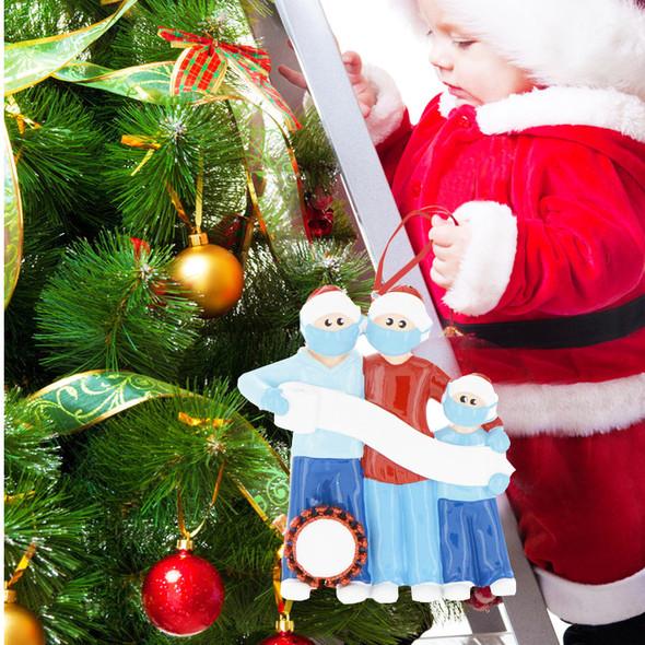 2020 DIY Name Blessings Snowman Christmas Tree Hanging Pendant PVC Decorations