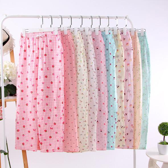 Womens Cotton Pants Sleep Bottoms Casual Pajamas Sleepwear Trousers