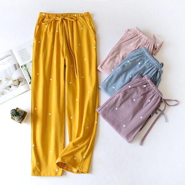 Womens Cotton Pajamas Sleep Bottoms Casual Pants