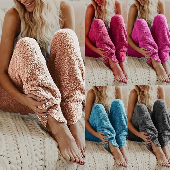 Womens Pajama Pants Fleece Long Pants Loungewear Nightwear