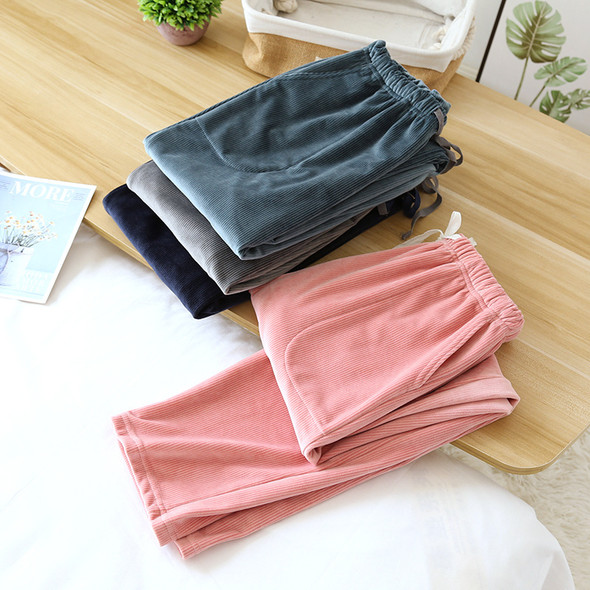 Womens Home Pajamas Pants Plus Size Flannel Loose Fleece Pants