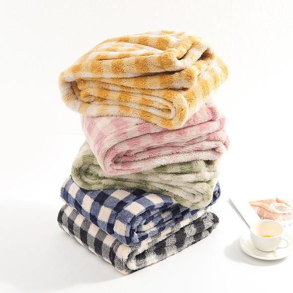 Womens Coral  Thermal Plus Velvet Thick Plaid Casual Pajamas