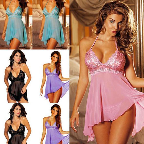 Woman Sexy Lingerie Lace Underwear Babydoll Sleepwear