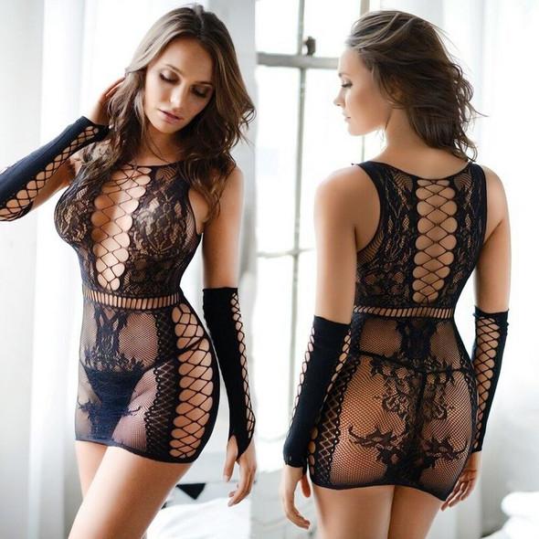 Womens Sexy Lingerie  Fishnet Porno Costume