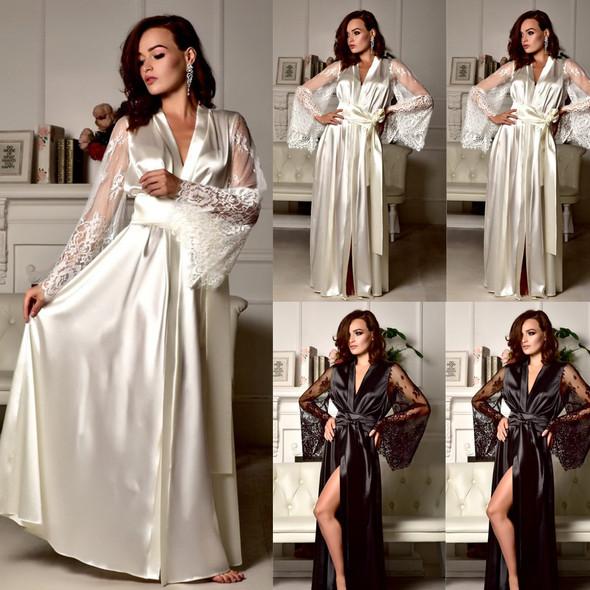 Womens Sexy Gingerie Sexy Ice Silk Pajamas Nightdresses