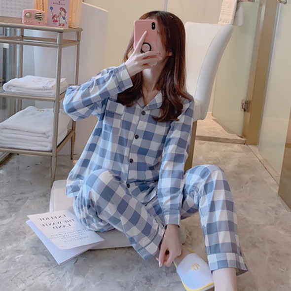 Womens Pajamas Sets with Pants Long Sleeve Turn-down Collar