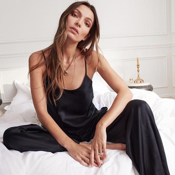 womens black nighties pajama set