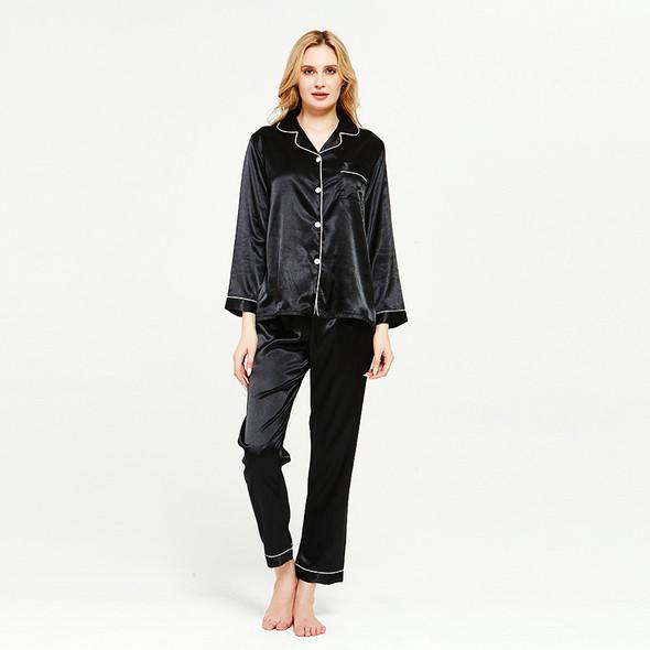 Womens Faux Silk Satin Sets Pyjama Sleepwear