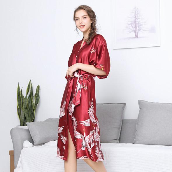 Womens Lce Silk Nightgown