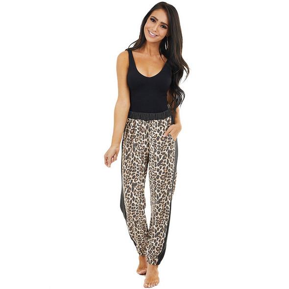 Womens Leopard Print Harem Casual Pants