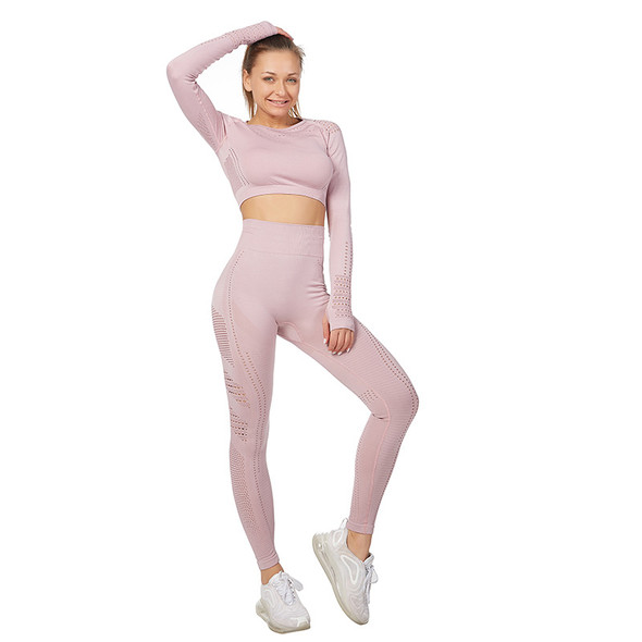 Long-sleeved Suit Breathable Plus Size Women Activewear Set