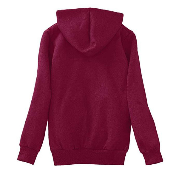 Autumn Winter Plush Hooded Sweater Women Thick Coat