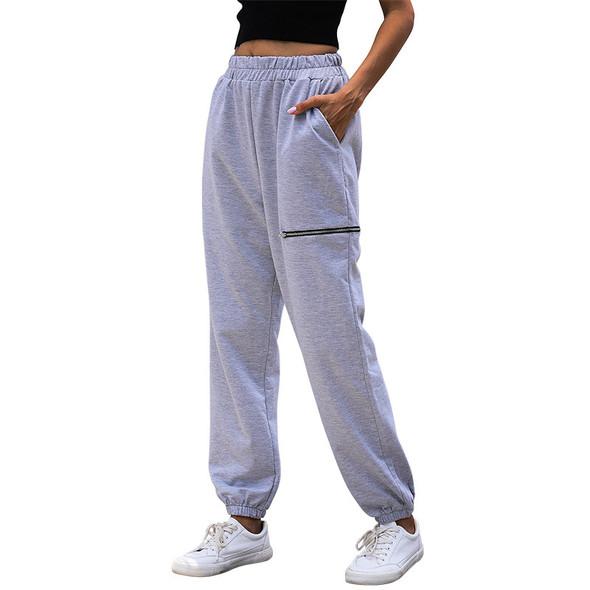 Fitness Pants Women Gray Sweatpants