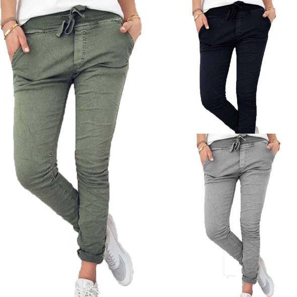 Solid Stretch Leggings Women Pencil Pants