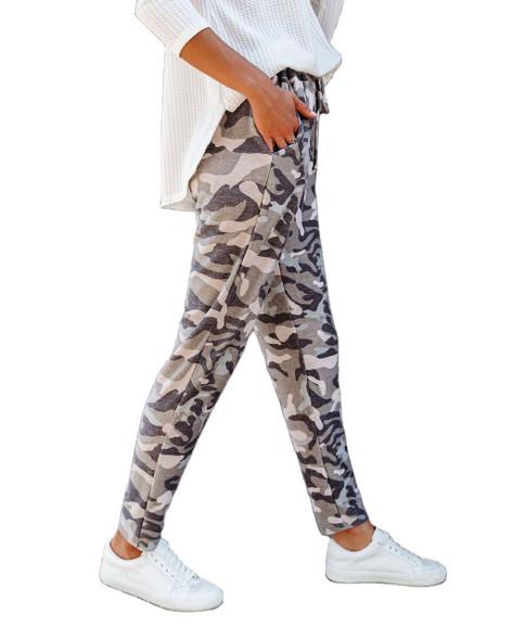 Camouflage Print Elasticated Harem Pants