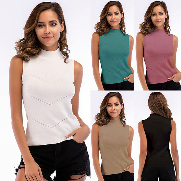 Women's Sleeveless Knit Camisole Slim Tank Top