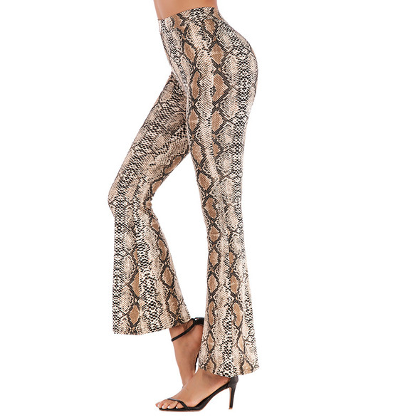 Women's Leopard Print Bootcut Leggings