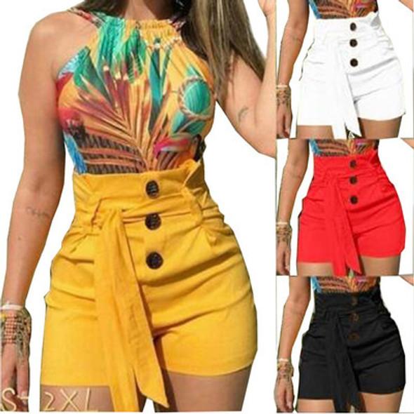 Summer Women's High Waist Shorts Plus Size Shorts