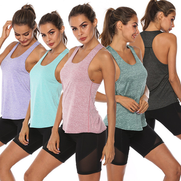 Cationic Fitness Training Yoga Women U-neck Vest