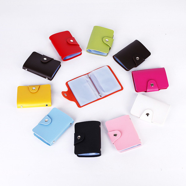 PU leather card holders 10 colors