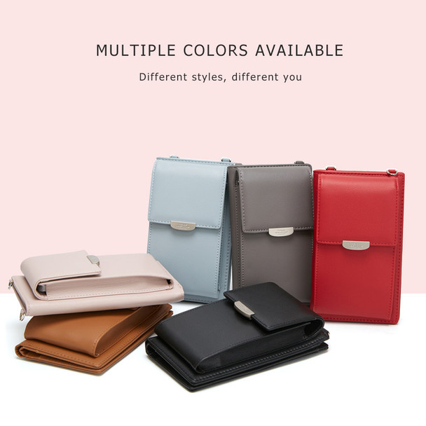 Women PU Leather Ladies Long Mobile Cell Phone Bag Card Holder