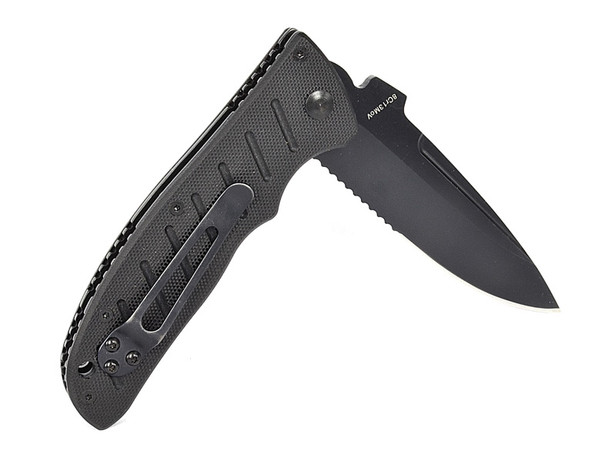 Enlan EL01 BEE EL01B Liner Lock Pocket Knife Stainless Steel Blade Black G10 Handle