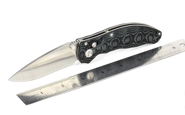 Enlan Bee EL04MCT Axis Lock Pocket EDC Folding Knife 8Cr13MoV Blade Green Waved Micarta Handle Pocket Knife