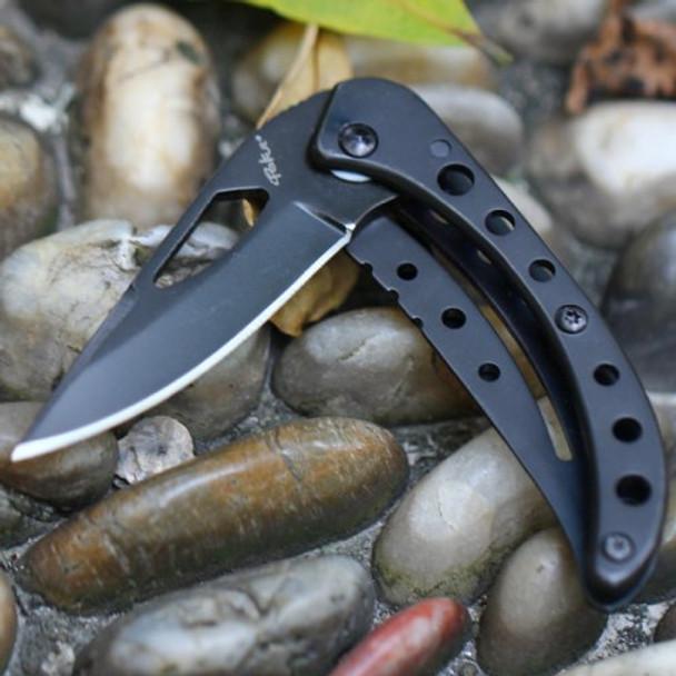 Jungle Knife Black Oxide Titanium Knife Tekut LK3881