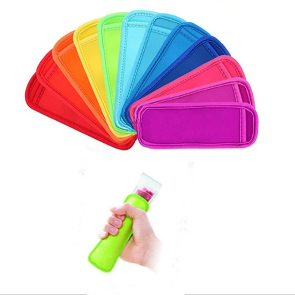 Antifreezing Popsicle Bags Freezer Popsicle Holders Reusable Neoprene Insulation Ice Pop Sleeves Bag for Kids Summer Kitchen Tools