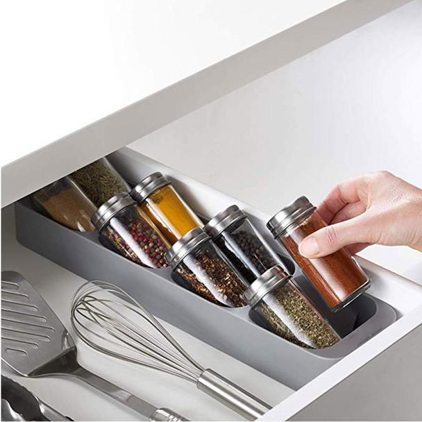 Spice Bottle Organizer Storage Box Kitchen Accessories Organizer Spice jar Storage Rack - Bottle No Include