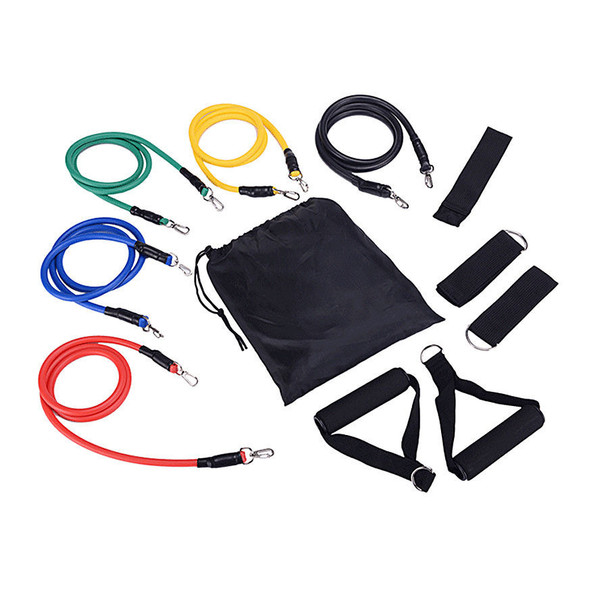 Pull Rope Fitness Exercises Resistance Bands Latex Tubes Pedal Excerciser Body Training Workout Elastic Yoga Band