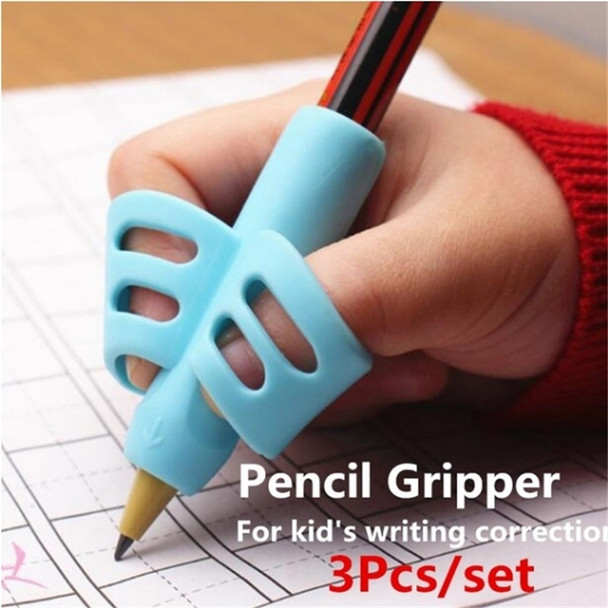 Two-Finger Pencil Grip Holder Children Kids Learning Writing Tool Writing Pen Writing Correction Device School Statione 3pcs per set