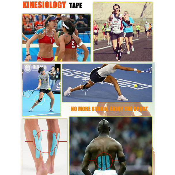 Kinesiology Tape Athletic Tape Sport Recovery Tape Strapping Gym Fitness Tennis Running Knee Muscle Protector