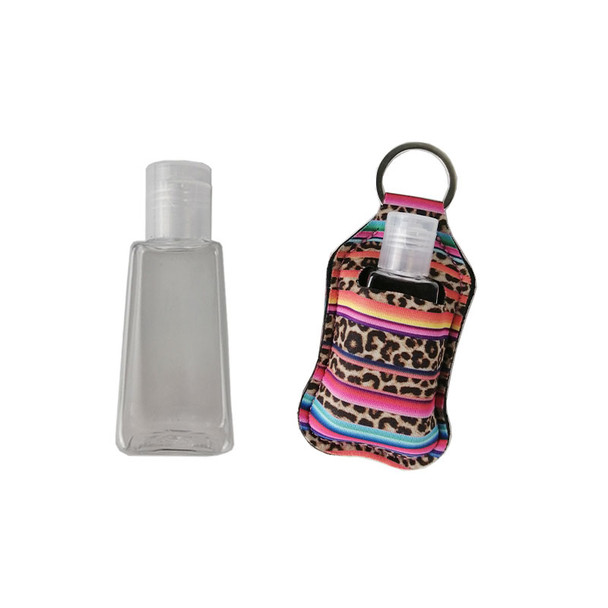 hand sanitizer bottles at leopard rainbow holster color No. XS05