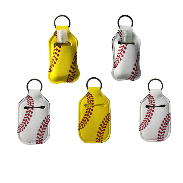 yewllow white baseball travel size hand sanitizer packets