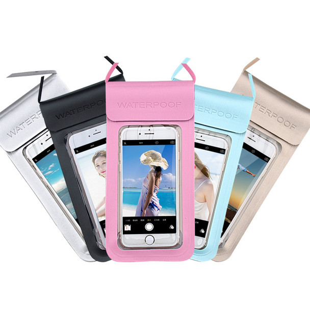 Universal Waterproof PU PTU Swimming Diving Pouch Mobile Cell Phone Bag Case Transparent TPU Touch Screen Holder