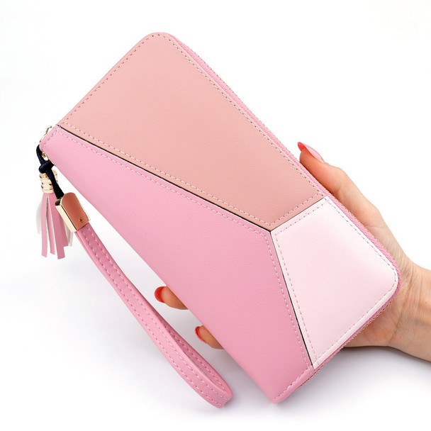 Square Students' Purse Mobile Phone Holder Leather Handbag Hand Holding Lady Large Capacity Clutch Women's Wallet Japan and Korean Style