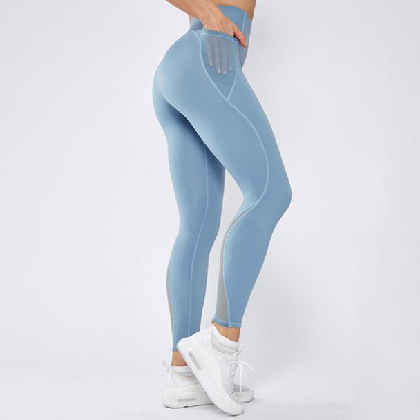 blue workout leggings yoga pants for women
